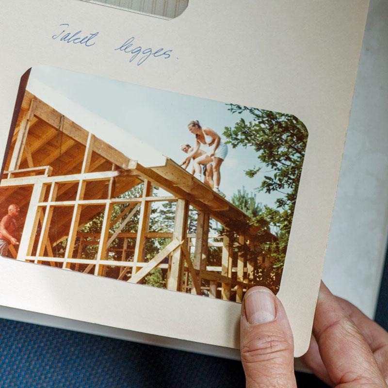 Bilde i fotoalbum av taklegging
